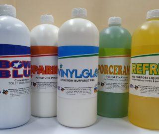 Household-Cleaning-Set-Bowl-Blue-Sparkle-Vinylglo-Porceramic-Refresh